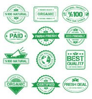 Natural Stamp Style Badges