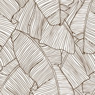 Illustration vectorielle des feuilles de palmier. Seamless pattern.