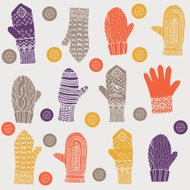 Woolly winter mittens and gloves
