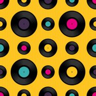 Vinyl record seamless background pattern