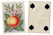 Victorian playing card with Four of Clubs