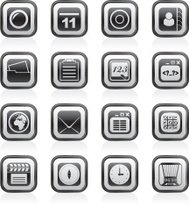 Mobile Phone and communication icons