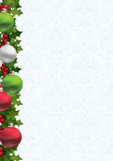 Christmas Decorative Invite Background