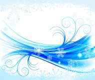 Abstract winter floral background