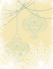 Snowflake Textured Christmas Background With Ornaments