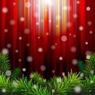 Vector christmas background with pine branches