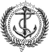 Nautical Anchor Graphic with Olive Branch