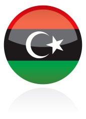 Libya, Africa Flag Button