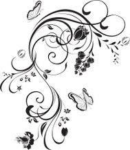 Swirl floral element