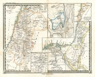 Antique Map of Ancient Palestine