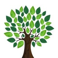 Green environment concept tree illustration