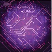 Abstract hi-tech electronic background