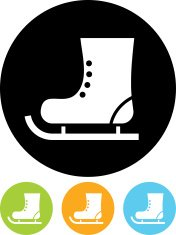 Skate boot vector icon isolated