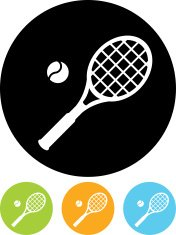 Tennis game vector icon isolated