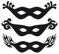 black vector carnival masks