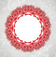 vector background of lace and snowflakes