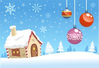 Christmas snowy house landscape design