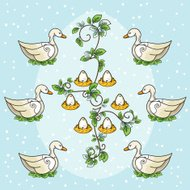The Twelve days Of Christmas Series. Six Geese A Laying