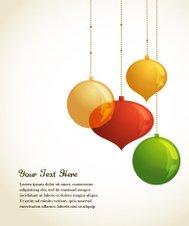 Elegant Christmas background with lights and xmas balls