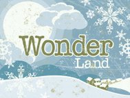 Christmas Winter Wonderland Scene and Text