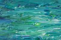 Blue-Green Abstract Painting