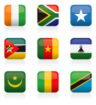 African Flag Buttons
