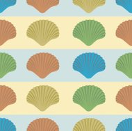 Shells and stripes pattern