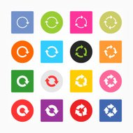 Arrow icon circle square button refresh reload rotation loop sig
