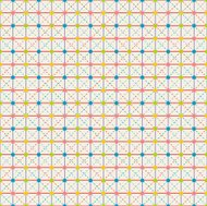 Cute Polka-Dot Pattern In Circus Colors