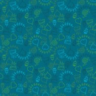 simple seamless pattern with flowers