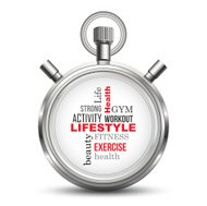 Lifestyle stopwatch concept