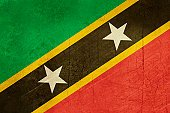 Grunge Saint Kitts and Nevis
