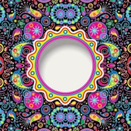 psychedelic background with paisley