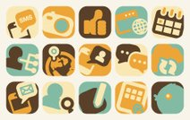social media and communication icons