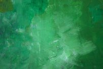 Green abstract painting with textures