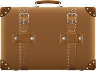 old suitcase for travel vector illustration