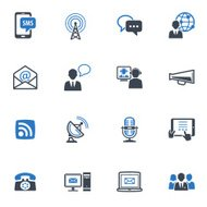 Communication Icons Set 1 - Blue Series