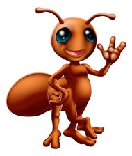 Cartoon ant mascot