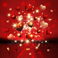 Heart burst Valentine's background