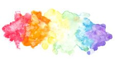 Abstract rainbow colors watercolor background