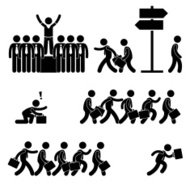 Standing Out of the Crowd Pictogram