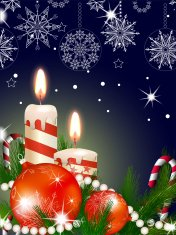 Christmas glowing background