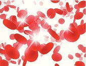 background with red blood cells