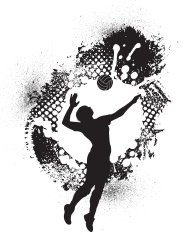 Volleyball Grunge Graphic - Girls