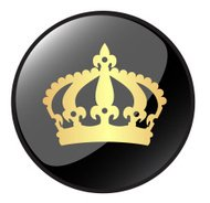 Golden Crown Icon Button