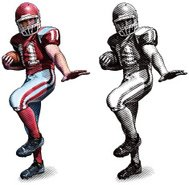 Football Player In Heisman Trophy Pose