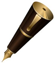 Gold ink pen
