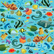 Seamles pattern with colorful fish