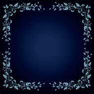 Blue Background With Calligraphic Scroll Corners