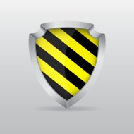 Shield with warning stripe